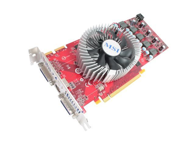 MSI Radeon HD 4830 DirectX 10.1 R4830-T2D512 OC 512MB 256-Bit GDDR3 PCI Express 2.0 x16 HDCP Ready CrossFireX Support Video Card