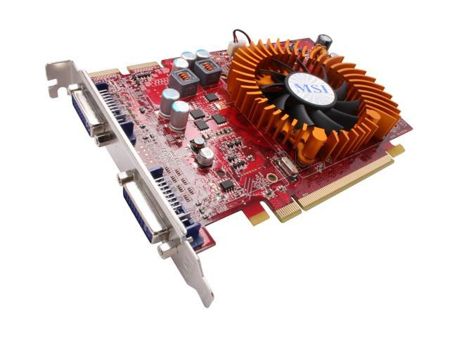 MSI Radeon HD 4670 DirectX 10.1 R4670-2D1G/D3 1GB 128-Bit GDDR3 PCI Express 2.0 x16 HDCP Ready CrossFireX Support Video Card