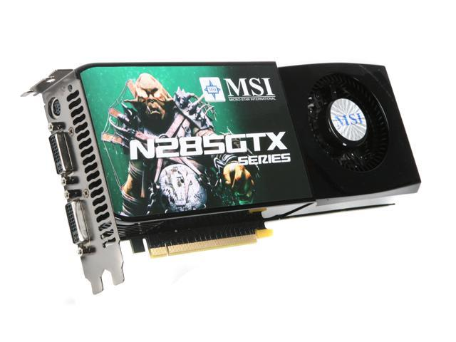 MSI GeForce GTX 285 DirectX 10 N285GTX-T2D1G-OC Video Card