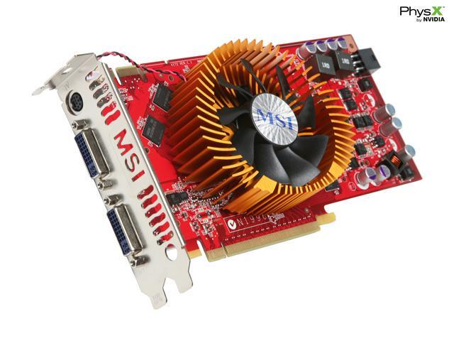 MSI GeForce 9800 GT DirectX 10 N9800GT-T2D512-OC V2 Video Card