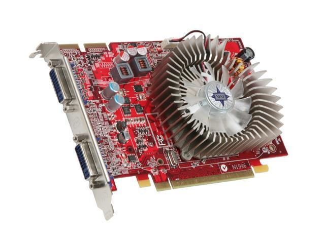 MSI Radeon HD 4670 DirectX 10.1 R4670-2D512/D3 512MB 128-Bit GDDR3 PCI Express 2.0 x16 HDCP Ready CrossFireX Support Video Card