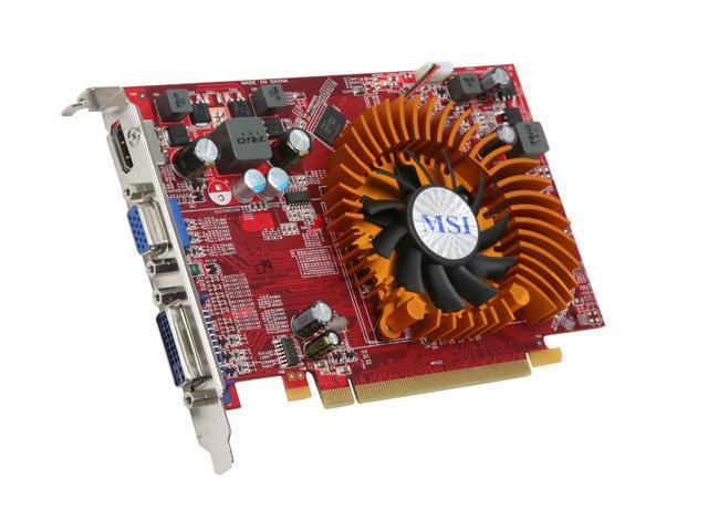 MSI Radeon HD 4650 DirectX 10.1 R4650-MD512 512MB 128-Bit GDDR2 PCI Express 2.0 x16 HDCP Ready CrossFireX Support Video Card
