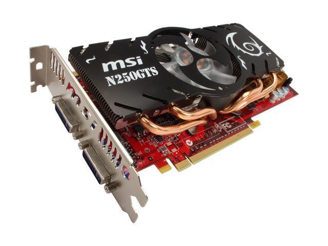 MSI GeForce GTS 250 DirectX 10 N250GTS-2D512-OCv2 Video Card