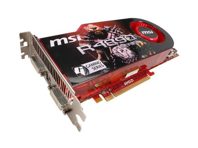 MSI Radeon HD 4890 DirectX 10.1 R4890-T2D1G OC Video Card - OC Edition