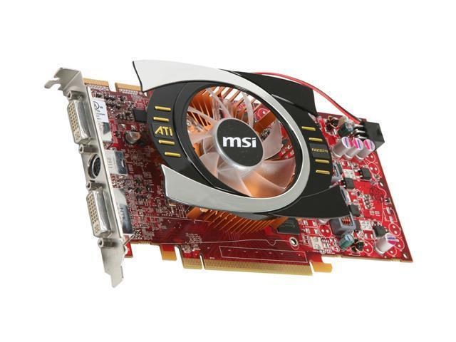 MSI Radeon HD 4770 R4770-T2D512 512MB 128-Bit GDDR5 PCI Express 2.0 x16 HDCP Ready CrossFireX Support Video Card