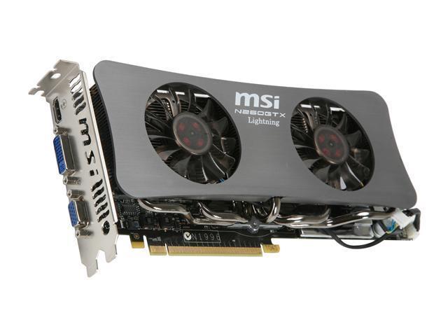 MSI GeForce GTX 260 N260GTX-Lightning Black Edition Video Card