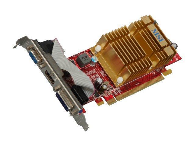 MSI Radeon HD 4350 DirectX 10.1 R4350-MD512H Video Card