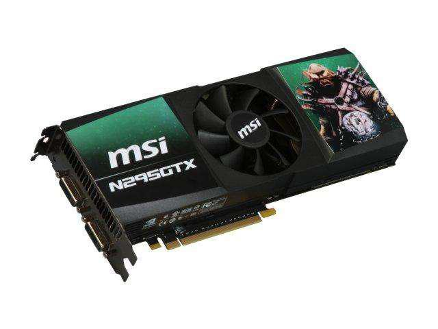 MSI GeForce GTX 295 DirectX 10 N295GTX-2D1792 Video Card