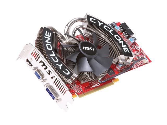 MSI Radeon HD 4870 DirectX 10.1 R4870 Cyclone 1G Video Card