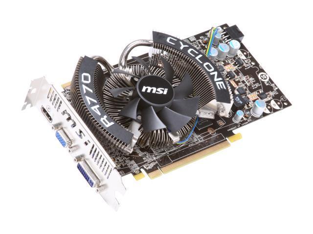 MSI Radeon HD 4770 DirectX 10.1 R4770 CYCLONE Video Card