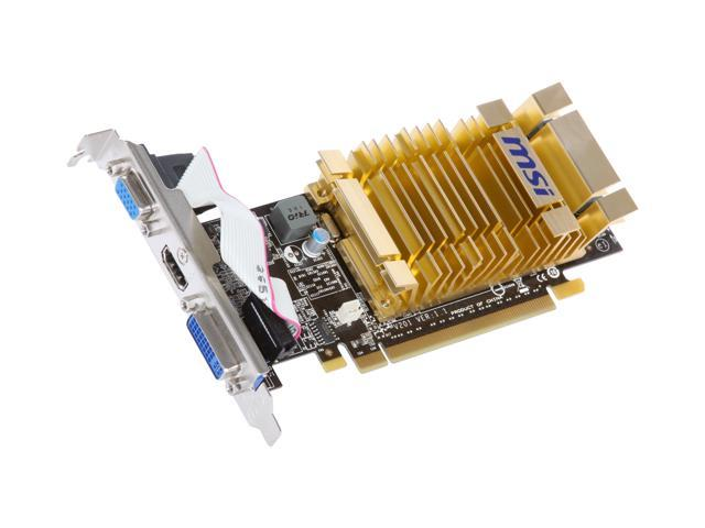 MSI GeForce 210 DirectX 10.1 N210-MD512H 512MB 64-Bit DDR2 PCI Express 2.0 x16 HDCP Ready Low Profile Ready Video Card