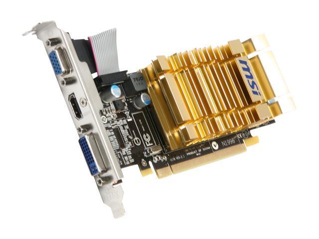 MSI Radeon HD 4550 DirectX 10.1 R4550-MD1GH Video Card