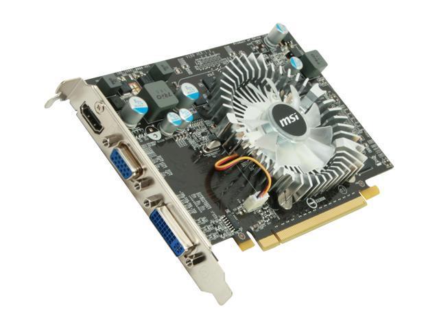 MSI GeForce GT 240 DirectX 10.1 N240GT-MD1G 1GB 128-Bit GDDR3 PCI Express 2.0 x16 HDCP Ready Video Card