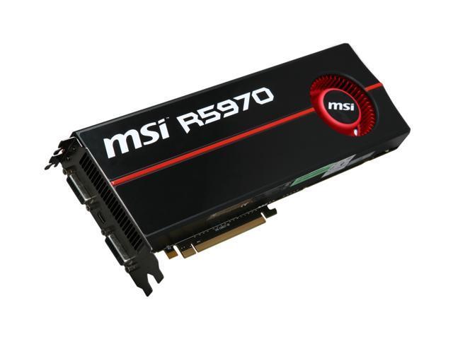 MSI Radeon HD 5970 (Hemlock) DirectX 11 R5970-P2D2G Dual GPU Onboard CrossFire Video Card w/ Eyefinity
