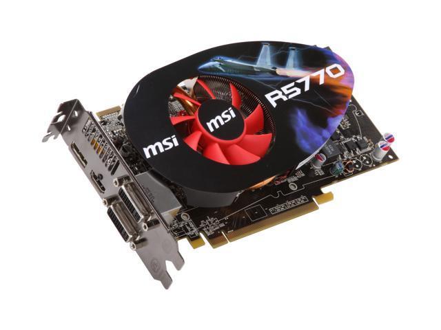 MSI Radeon HD 5770 (Juniper XT) DirectX 11 R5770-PM2D1G OC/Seaweed 1GB 128-Bit GDDR5 PCI Express 2.0 x16 HDCP Ready CrossFireX Support Video Card