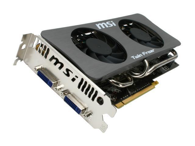 MSI GeForce GTS 250 DirectX 10 N250GTS Twin Frozr 1G 1GB 256-Bit GDDR3 PCI Express 2.0 x16 HDCP Ready SLI Support Video Card