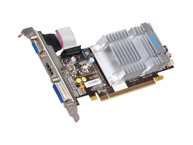 MSI Radeon HD 5450 DirectX 11 R5450-MD1GH 1GB 64-Bit DDR3 PCI Express 2.1 x16 HDCP Ready CrossFireX Support Low Profile Ready Video Card