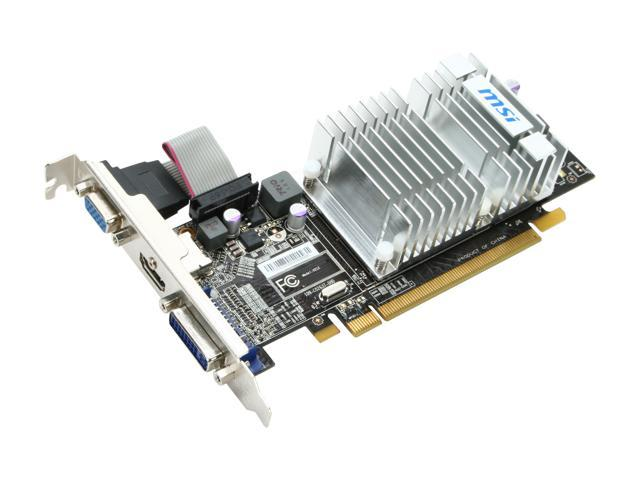 MSI Radeon HD 5450 (Cedar) DirectX 11 R5450-MD512H Video Card