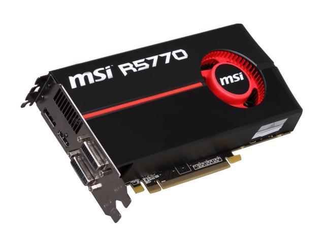 MSI Radeon HD 5770 DirectX 11 R5770-PM2D1G-OC Video Card