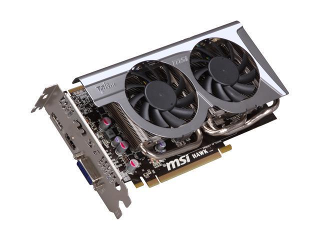 MSI Radeon HD 5770 DirectX 11 R5770 Hawk 1GB 128-Bit GDDR5 PCI Express 2.1 x16 HDCP Ready CrossFireX Support Video Card