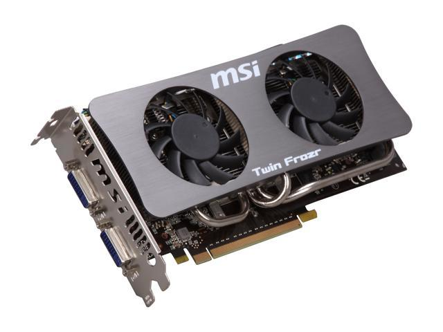 MSI GeForce GTS 250 DirectX 10 N250GTS Twin Frozr 512MB 256-Bit GDDR3 PCI Express 2.0 x16 HDCP Ready SLI Support Video Card