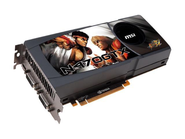 MSI GeForce GTX 470 (Fermi) DirectX 11 N470GTX-M2D12-B Video Card