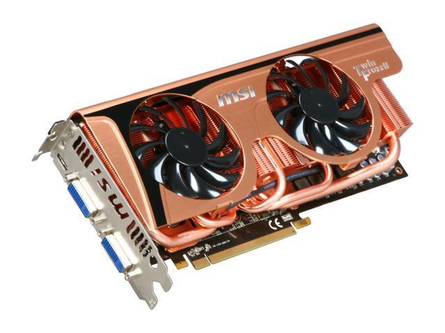 MSI GeForce GTX 465 (Fermi) DirectX 11 N465GTX Twin Frozr II GE 1GB 256-Bit GDDR5 PCI Express 2.0 x16 HDCP Ready SLI Support Video Card