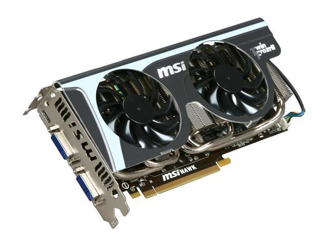 MSI GeForce GTX 460 (Fermi) DirectX 11 N460GTX Hawk 1GB 256-Bit GDDR5 PCI Express 2.0 x16 HDCP Ready SLI Support Video Card