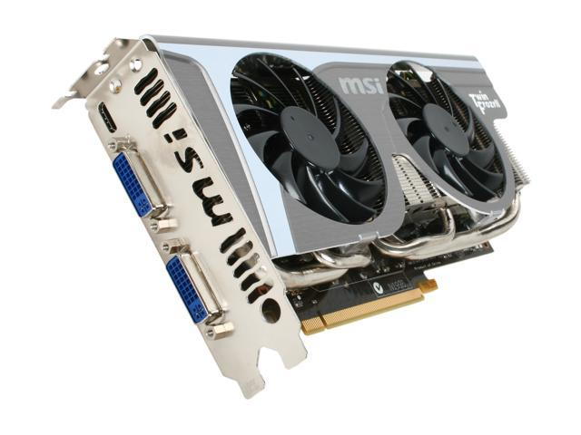 MSI GeForce GTX 460 (Fermi) DirectX 11 N460GTX Twin Frozr II SOC 768MB 192-Bit GDDR5 PCI Express 2.0 x16 HDCP Ready SLI Support Video Card