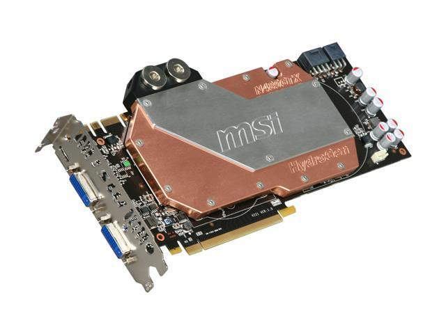 MSI GeForce GTX 480 (Fermi) DirectX 11 N480GTX HydroGen 1536MB 384-Bit GDDR5 PCI Express 2.0 x16 HDCP Ready SLI Support Video Card