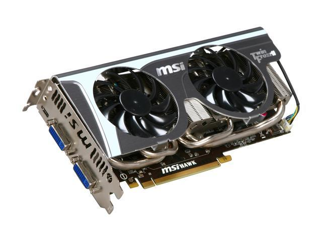 MSI GeForce GTX 460 (Fermi) DirectX 11 N460GTX Hawk Talon Attack 1GB 256-Bit GDDR5 PCI Express 2.0 x16 HDCP Ready SLI Support Video Card
