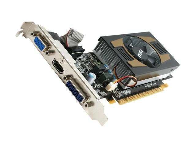 MSI GeForce GT 430 (Fermi) DirectX 11 N430GT-MD1GD3-OC/LP 1GB 128-Bit DDR3 PCI Express 2.0 x16 HDCP Ready Low Profile Ready Video Card