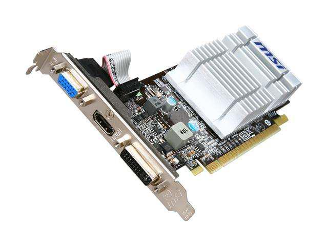 MSI GeForce 210 DirectX 10.1 N210-MD512D3H/LP Video Card