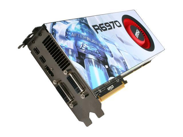 MSI Radeon HD 6970 DirectX 11 R6970-2PM2D2GD5 Video Card with Eyefinity