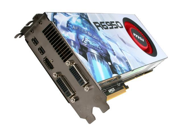 MSI Radeon HD 6950 DirectX 11 R6950-2PM2D2GD5 2GB 256-Bit GDDR5 PCI Express 2.1 x16 HDCP Ready CrossFireX Support Video Card with Eyefinity