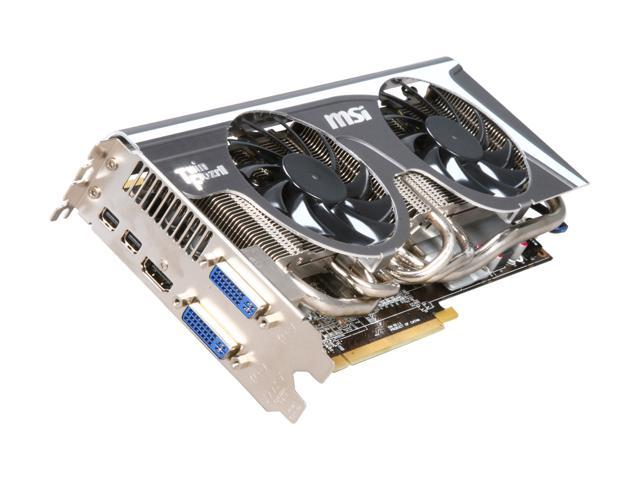 MSI Radeon HD 6950 DirectX 11 R6950 Twin Frozr II OC 2GB 256-Bit GDDR5 PCI Express 2.1 x16 HDCP Ready CrossFireX Support Video Card with Eyefinity