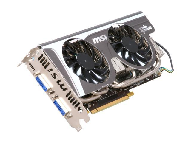 MSI GeForce GTX 560 Ti (Fermi) DirectX 11 N560GTX-TI Twin Frozr II/OC 1GB 256-Bit GDDR5 PCI Express 2.0 x16 HDCP Ready SLI Support Video Card
