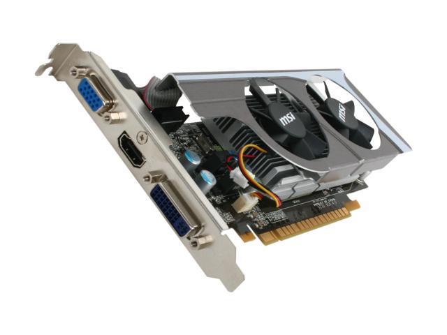 MSI GeForce GT 440 (Fermi) DirectX 11 N440GT-MD1GD3/LP 1GB 128-Bit DDR3 PCI Express 2.0 x16 HDCP Ready Video Card