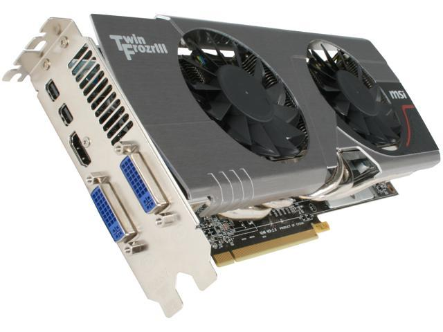 MSI Radeon HD 6950 DirectX 11 R6950 Twin Frozr III PE/OC Video Card with Eyefinity