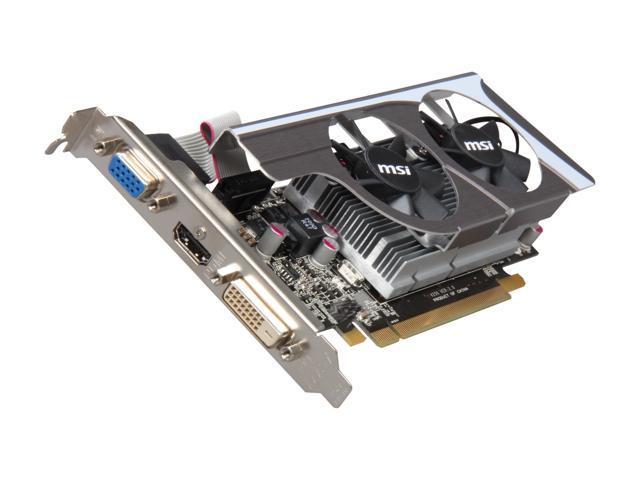 MSI Radeon HD 6570 DirectX 11 R6570-MD1GD3/LP 1GB 128-Bit DDR3 PCI Express 2.1 x16 HDCP Ready Low Profile Ready Video Card