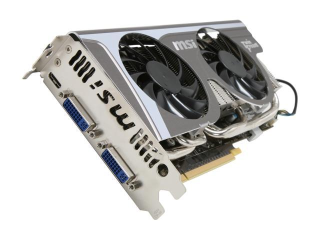 MSI GeForce GTX 560 (Fermi) DirectX 11 N560GTX Twin Frozr II/OC 1GB 256-Bit GDDR5 PCI Express 2.0 x16 HDCP Ready SLI Support Video Card