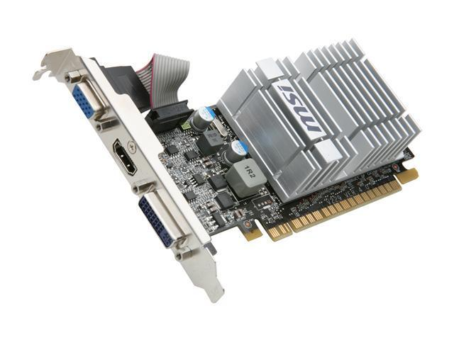 MSI GeForce 8400 GS DirectX 10 N8400GS-MD512H 512MB 64-Bit DDR3 PCI Express 2.0 x16 HDCP Ready Video Card