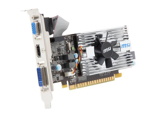 MSI GeForce GT 430 (Fermi) DirectX 11 N430GT-MD1G/LP Video Card