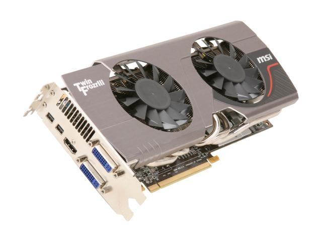 MSI Radeon HD 6950 DirectX 11 R6950 Twin Frozr III 1G/OC 1GB 256-Bit GDDR5 PCI Express 2.1 x16 HDCP Ready CrossFireX Support Video Card