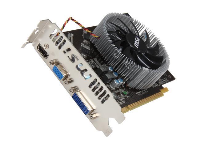MSI GeForce GTS 450 (Fermi) DirectX 11 N450GTS-MD1GD3 1GB 128-Bit DDR3 PCI Express 2.0 x16 HDCP Ready Video Card