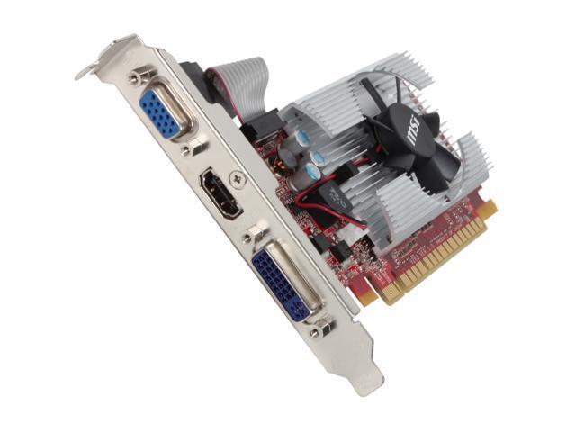 MSI GeForce GT 520 (Fermi) DirectX 11 N520GT-MD2GD3/LP 2GB 64-Bit DDR3 PCI Express 2.0 x16 HDCP Ready Low Profile Ready Video Card