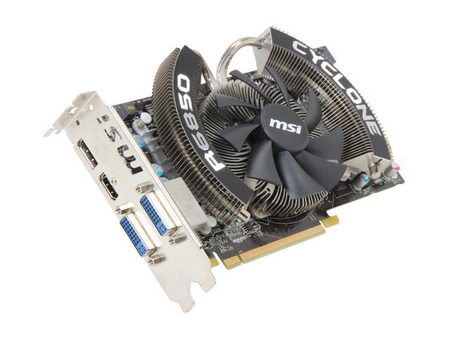 MSI Radeon HD 6850 DirectX 11 R6850 CYCLONE PE/OC Video Card with Eyefinity