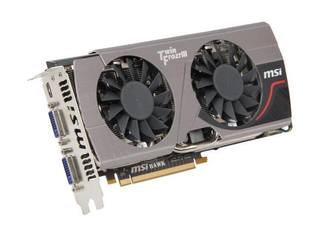 MSI GeForce GTX 560 Ti (Fermi) DirectX 11 N560GTX-Ti HAWK 1GB 256-Bit GDDR5 PCI Express 2.0 x16 HDCP Ready SLI Support Video Card