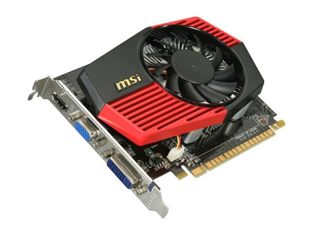 MSI GeForce GT 430 (Fermi) DirectX 11 N430GT-MD2GD3/OC Video Card