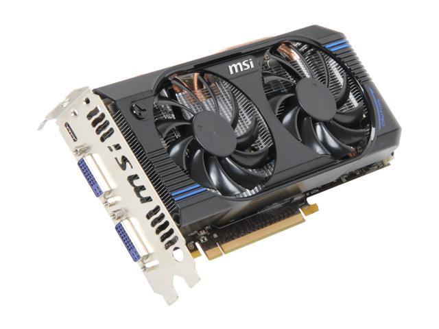 MSI GeForce GTX 460 (Fermi) DirectX 11 N460GTX-M2D1GD5/OC2 1GB 192-Bit GDDR5 PCI Express 2.0 x16 HDCP Ready SLI Support Video Card